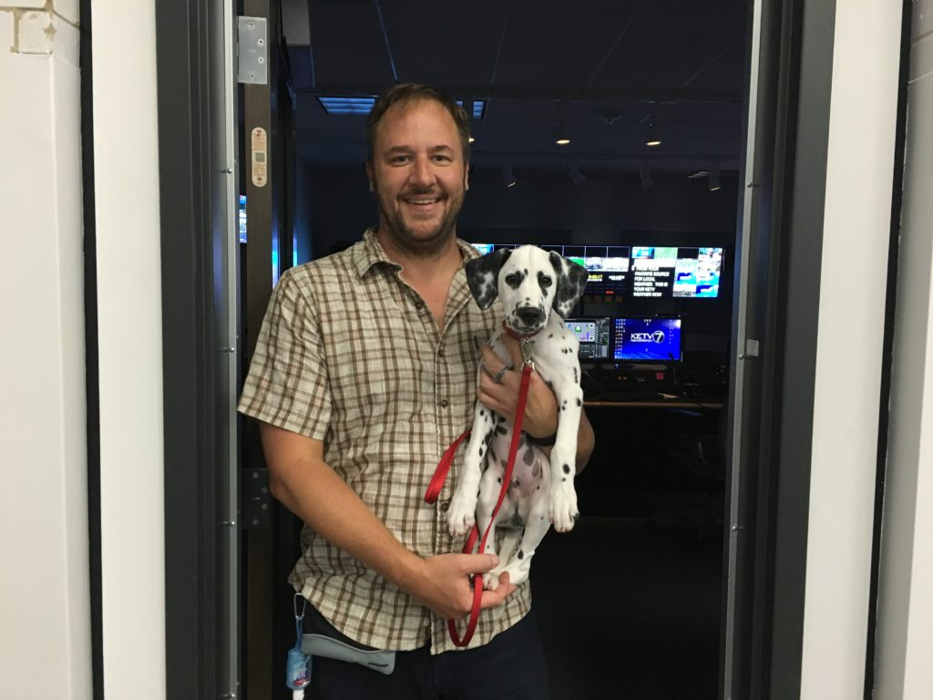 Quest and David Outside KETV control room